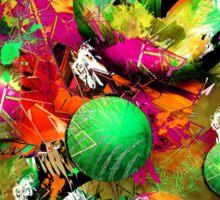 Neon Ink - Abstract Art Sticker