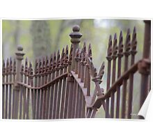 Wrought Iron Fence in the Spring Poster