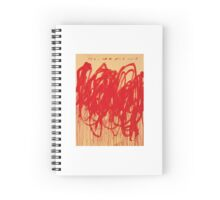 Cy Twombly UNTITLED [BACCHUS 1ST VERSION V] Spiral Notebook