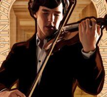 Art Nouveau Sherlock: The Violinist Sticker