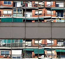Reflections of the opposite neighbours by Arie Koene