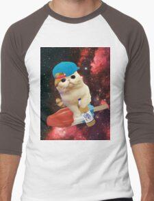 rocket pop cat Men's Baseball ¾ T-Shirt