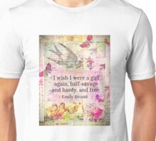 Emily Bronte quote about freedom Unisex T-Shirt