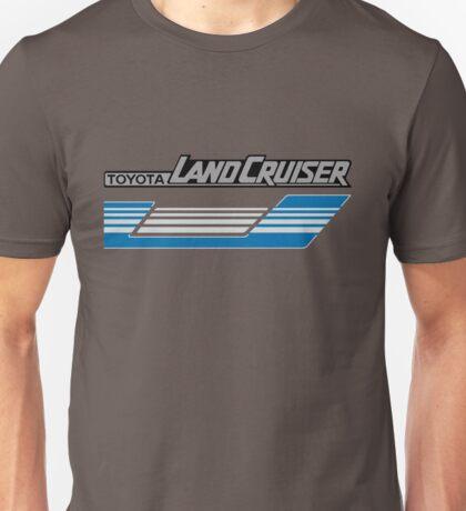 Land Cruiser body art series, blue grey stripes.  Unisex T-Shirt