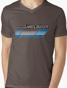 Land Cruiser body art series, blue grey stripes.  Mens V-Neck T-Shirt