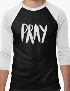 Pray Typography x Mustard Men's Baseball ¾ T-Shirt