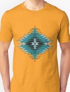 Native American Southwest-Style Turquoise Sunburst Unisex T-Shirt