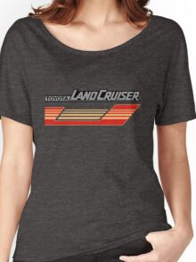 Land Cruiser body art series, red gold stripe.  Women's Relaxed Fit T-Shirt