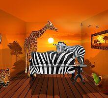 Afrika wildlife living room :) by Monika Juengling