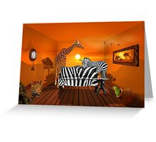 Afrika wildlife living room :) Greeting Card