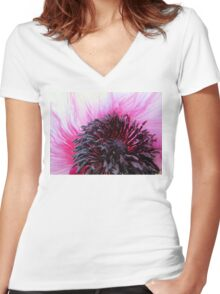 Pink Poppy Women's Fitted V-Neck T-Shirt