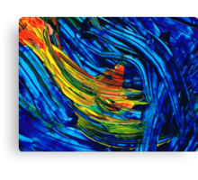 Colorful Abstract Art - Energy Flow 5 - By Sharon Cummings Canvas Print