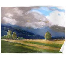 Stormy day over the Liverpool Ranges  Poster