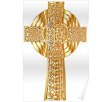 Celtic gold cross,christian,faith,spiritual,spirit,Jesus,christ,love Poster