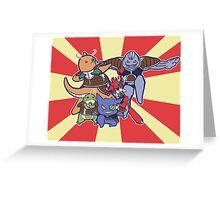 Pokemon Ginyu Force! Greeting Card