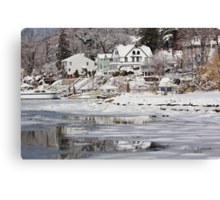 Icy Snowy Winter Wonderland Canvas Print