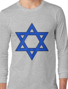 Star of David Blues Long Sleeve T-Shirt