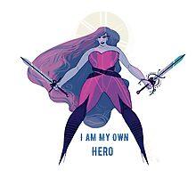 I Am My Own Hero Photographic Print