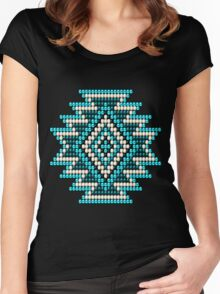 Native Style Turquoise Sunburst Women's Fitted Scoop T-Shirt
