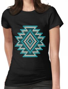 Native Style Turquoise Sunburst Womens Fitted T-Shirt