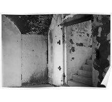 Black and White Staircase Poster