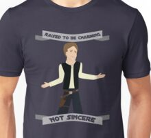 Han Solo: Raised to be Charming Unisex T-Shirt