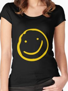 Smile if You're Bored Women's Fitted Scoop T-Shirt