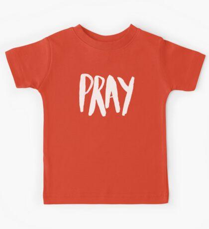 Pray Typography x Navy Kids Tee