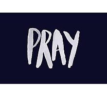 Pray Typography x Navy Photographic Print
