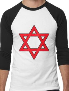 Star of David in the Red Men's Baseball ¾ T-Shirt