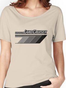 Land Cruiser body art series, grey arrows.  Women's Relaxed Fit T-Shirt