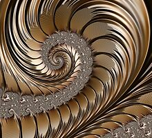 Bronze Scrolls Abstract by John Edwards