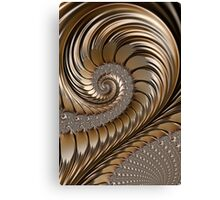 Bronze Scrolls Abstract Canvas Print