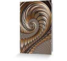 Bronze Scrolls Abstract Greeting Card