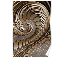 Bronze Scrolls Abstract Poster