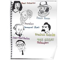 The Great Philosophers Poster