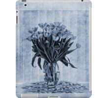 Watercolour Tulips in Blue iPad Case/Skin