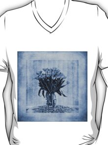 Watercolour Tulips in Blue T-Shirt