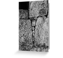 Stone Triangles Greeting Card