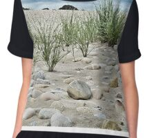 Dune Grass, Sand and Beach Rocks Chiffon Top