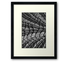 Mono Waves Framed Print
