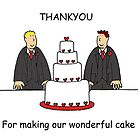 Thanks for making our wonderful gay civil union cake. by KateTaylor