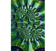 Abstract in Green and Blue Photographic Print