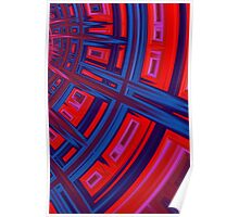 Abstract in Red and Blue Poster