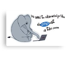 The elePHPant in the room Canvas Print