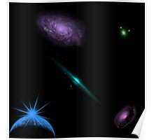 Shadow Clan Simple Galaxies w/ Earth Poster