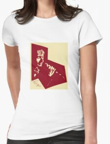 Our Mutual Friend - dark red/light yellow Womens Fitted T-Shirt