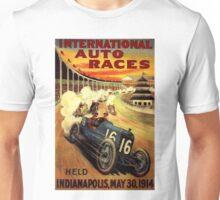 """INTERNATIONAL AUTO RACES"" Advertising Print Unisex T-Shirt"