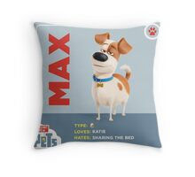 The Secret Life Of Pets Max Throw Pillow