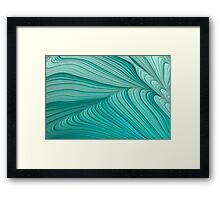 Folded Blue Green Abstract Framed Print